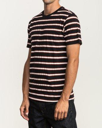 2 Brong Stripe T-Shirt Black M430SRBR RVCA