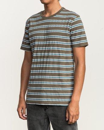 2 Brong Stripe T-Shirt Brown M430SRBR RVCA