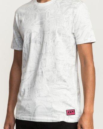 4 Grillo World T-Shirt White M430SRGR RVCA
