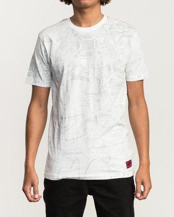 1 Grillo World T-Shirt White M430SRGR RVCA