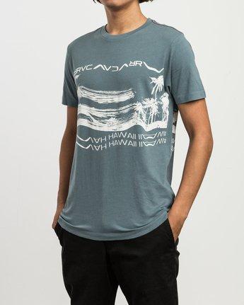 1 Hawaii Warped T-Shirt Blue M430SRHS RVCA