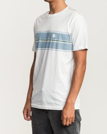 2 Motors Stripe T-Shirt White M430SRMO RVCA