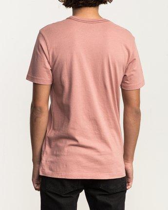 3 VA RVCA Fill T-Shirt Brown M430SRVA RVCA