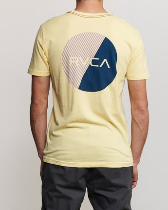 4 Blind Motors T-Shirt Yellow M430TRBL RVCA