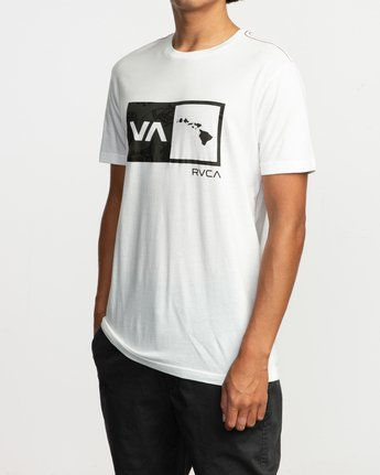 2 Islands Balance Box Fill T-Shirt White M430TRBS RVCA