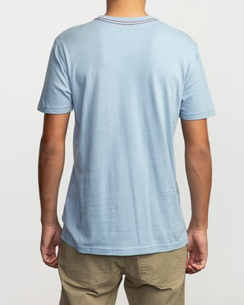 3 Islands Balance Box Fill T-Shirt Blue M430TRBS RVCA