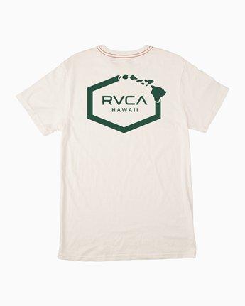 0 Islands Hex Hawaii T-Shirt White M430TRIS RVCA