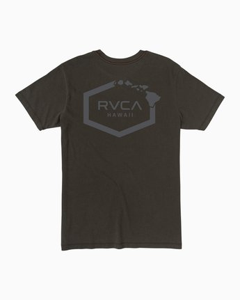 0 Islands Hex Hawaii T-Shirt Black M430TRIS RVCA