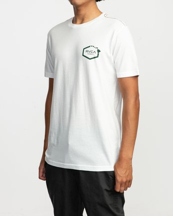 4 Islands Hex Hawaii T-Shirt White M430TRIS RVCA