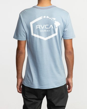 6 Islands Hex Hawaii T-Shirt Blue M430TRIS RVCA