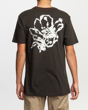 4 Sage Vaughn Mono Flower T-Shirt Black M430TRMO RVCA