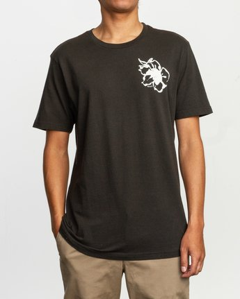 2 Sage Vaughn Mono Flower T-Shirt Black M430TRMO RVCA