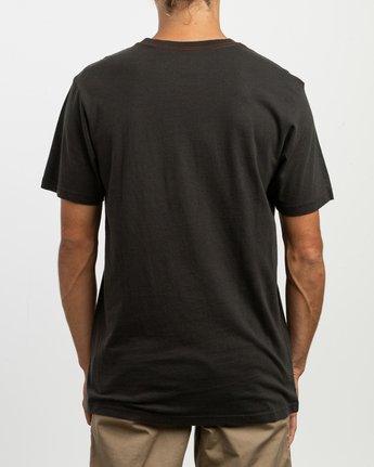 3 Rust Belt Embroidered T-Shirt Black M430TRRU RVCA