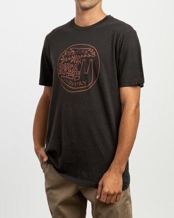 2 Rust Belt Embroidered T-Shirt Black M430TRRU RVCA