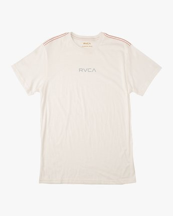0 Small RVCA Embroidered T-Shirt White M430TRSM RVCA