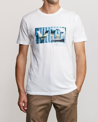 1 Balance T-Shirt White M430URBA RVCA