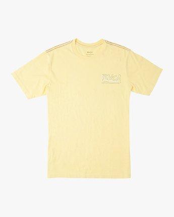 1 Offset T-Shirt Yellow M430UROF RVCA