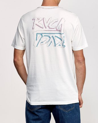 4 Offset T-Shirt White M430UROF RVCA