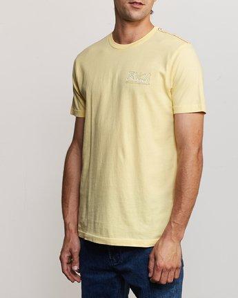 3 Offset T-Shirt Yellow M430UROF RVCA