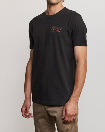 3 Offset T-Shirt Black M430UROF RVCA