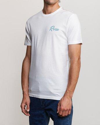 3 Mowgli Tropicale T-Shirt White M430URTR RVCA