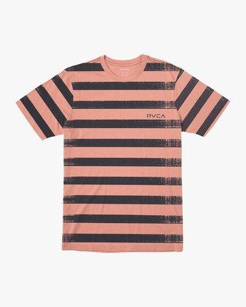 0 Copy Stripe T-Shirt Pink M430VRCS RVCA