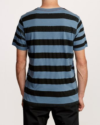 3 Copy Stripe T-Shirt Red M430VRCS RVCA
