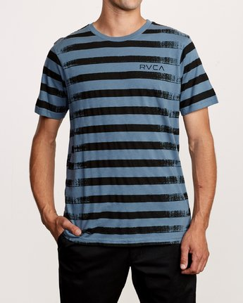1 Copy Stripe T-Shirt Red M430VRCS RVCA