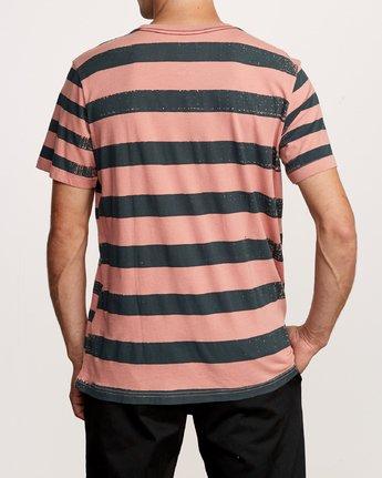 3 Copy Stripe T-Shirt Pink M430VRCS RVCA