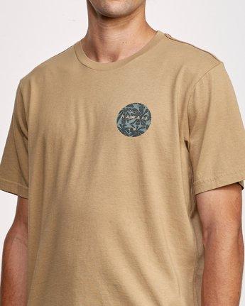 5 Da Aina T-Shirt Yellow M430VRDA RVCA