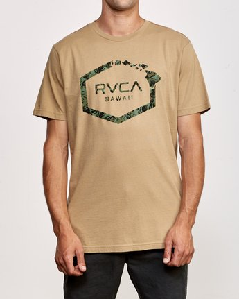 1 Island Hex T-Shirt Yellow M430VRIS RVCA