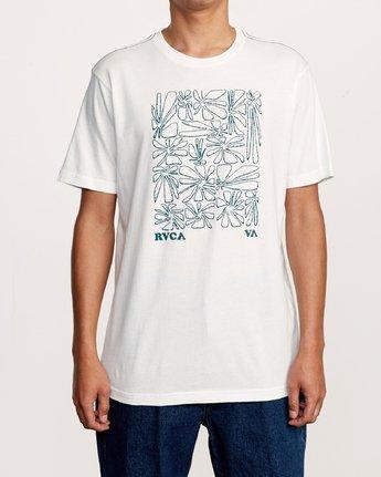 1 Beercroft Polinate T-Shirt White M430VRPO RVCA