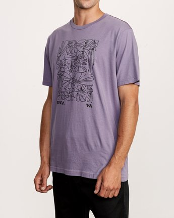 2 Beercroft Polinate T-Shirt Purple M430VRPO RVCA