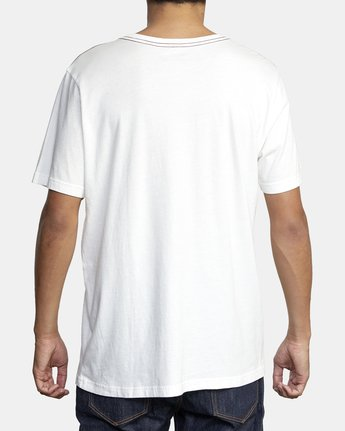 3 Small RVCA Embroidered T-Shirt White M430VRSM RVCA