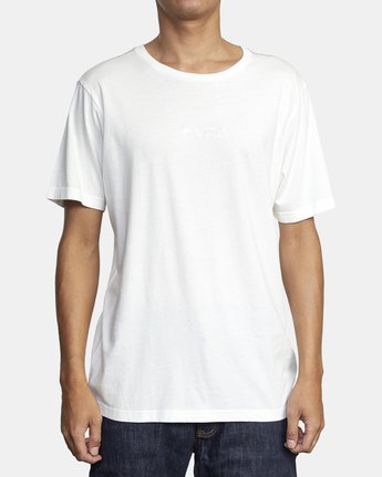 1 Small RVCA Embroidered T-Shirt White M430VRSM RVCA