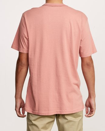 3 Small RVCA Embroidered T-Shirt Pink M430VRSM RVCA