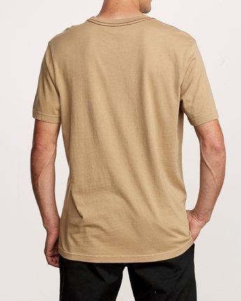 3 Small RVCA Embroidered T-Shirt Yellow M430VRSM RVCA