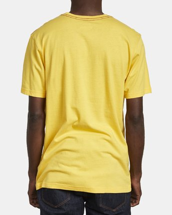 5 SMALL RVCA SHORT SLEEVE TEE Yellow M430VRSM RVCA