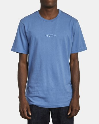 1 SMALL RVCA T-SHIRT Blue M430VRSM RVCA