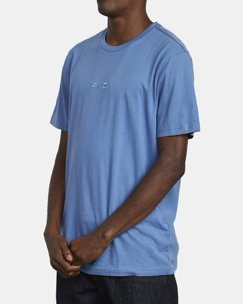 3 SMALL RVCA T-SHIRT Blue M430VRSM RVCA