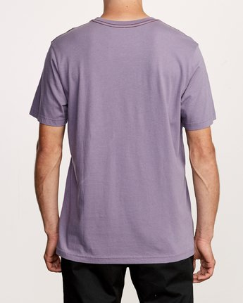 3 Small RVCA Embroidered T-Shirt Purple M430VRSM RVCA