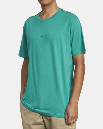 3 SMALL RVCA SHORT SLEEVE TEE Green M430VRSM RVCA