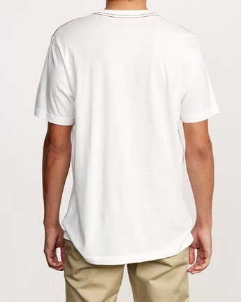 3 Solo Label T-Shirt White M430VRSO RVCA