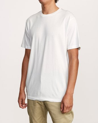 2 Solo Label T-Shirt White M430VRSO RVCA