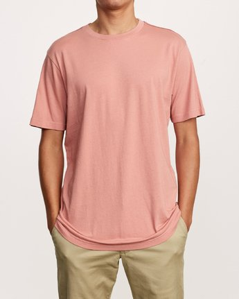 1 Solo Label T-Shirt Pink M430VRSO RVCA