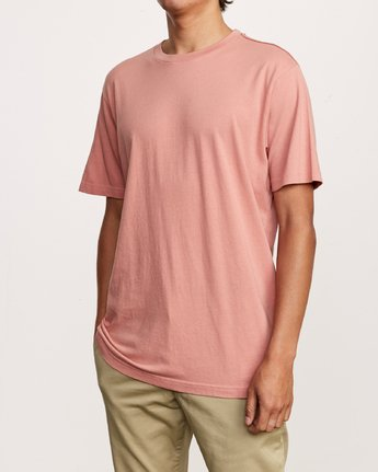 2 Solo Label T-Shirt Pink M430VRSO RVCA