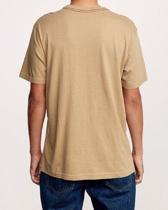 3 Solo Label T-Shirt Yellow M430VRSO RVCA