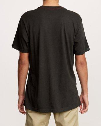 3 Solo Label T-Shirt Black M430VRSO RVCA