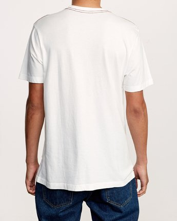 3 Unregistered T-Shirt White M430VRUN RVCA