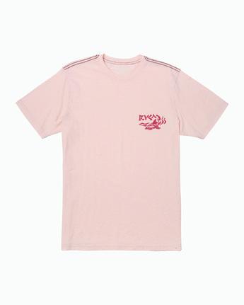 1 Castaway T-Shirt Pink M430WRCA RVCA